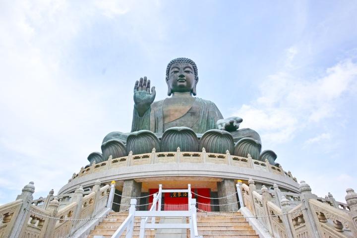 [HK201806]20分超の長距離ロープウェイで世界最大の大仏様に会う@昴坪(ゴンピン)