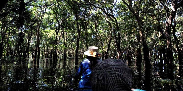【シェムリアップ2018】コンポン・プルックKompong Phluk村のクルーズ